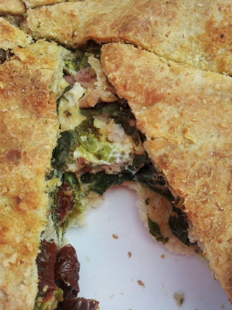 Delicious GMO-free organic spelt flour pie